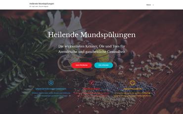 Webseite zum Buch Heilende Mundspülungen von Dr. med. dent. Nicole Wagner | Hans Nietsch Verlag